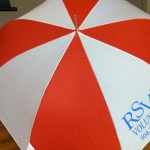At the annual Holiday Breakfast, RSVP volunteers received a FREE umbrella