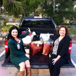 Donna Guzzo (left)Cheryl Freeman(right)RSVP volunteers donated items for the Home Assist Program in St Johns County schools!